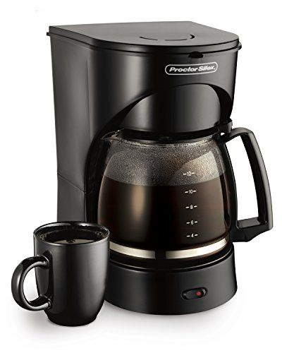"Price: $17.88 - http://bit.ly/2bqvsr1 - Proctor Silex 12-Cup Coffee Maker, Black (43502) - Auto pause & serve Lighted ""on"" switch Dishwasher safe carafe & basket"