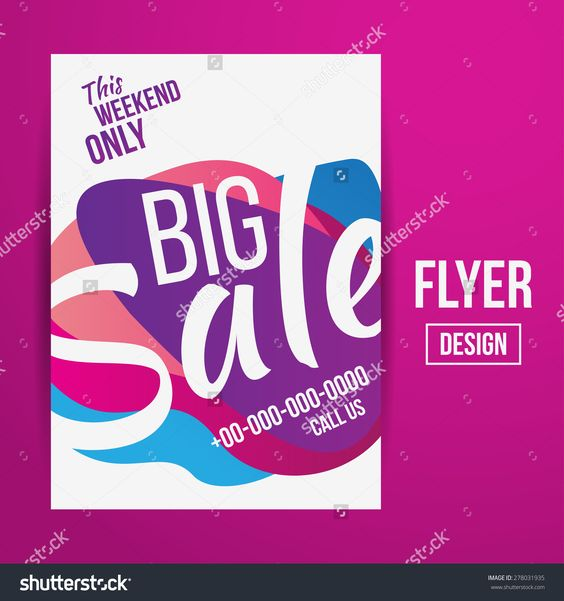 Abstract Vector Creative Sale Flyers, Can Be Used As Poster Or Banner Design…