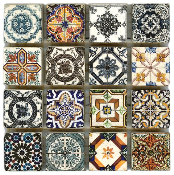 Spanish Revival Accent Stone Tile Deco Dots These 1x1