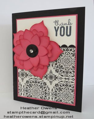 Flower Frenzy card using Painted Petals stamp set, Typeset DSP and Flower Frenzy die, all  from Stampin' Up!