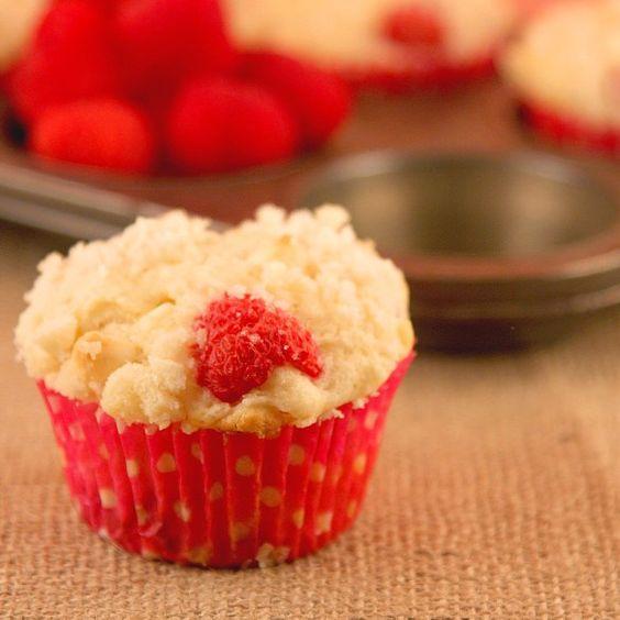 White Chocolate Raspberry Muffin Recipe - On Sugar Mountain
