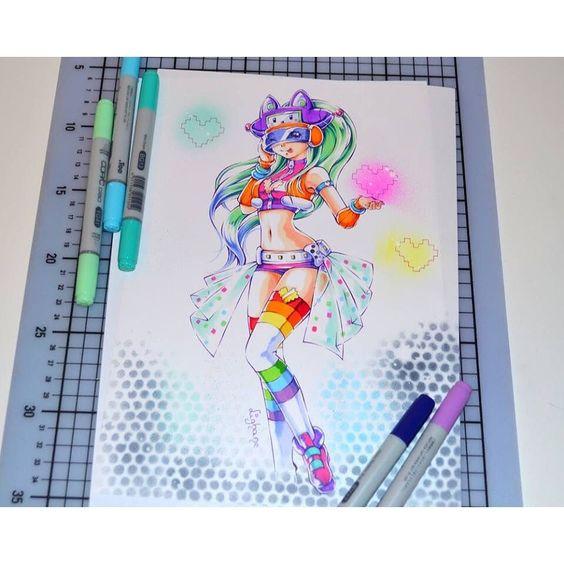 Arcade Syndra by @lighanesartblog!  Personal Acc: @Guardian_Rabbz {#Hashtags} #LeagueOfLegends #Lol #Gaming #RiotGames #Kawaii #FanArt #Anime #Art #Syndra #SkinConcept #Arcade by lol.artandcosplay