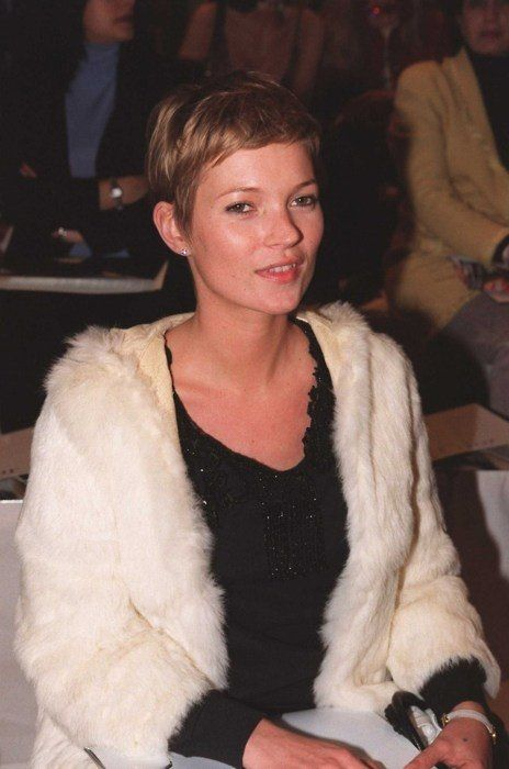 Kate Moss With Short Blonde Hair