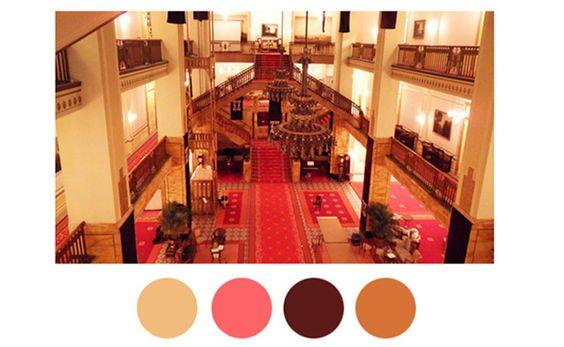 Wes Anderson movie color palette inspiration #color #decor