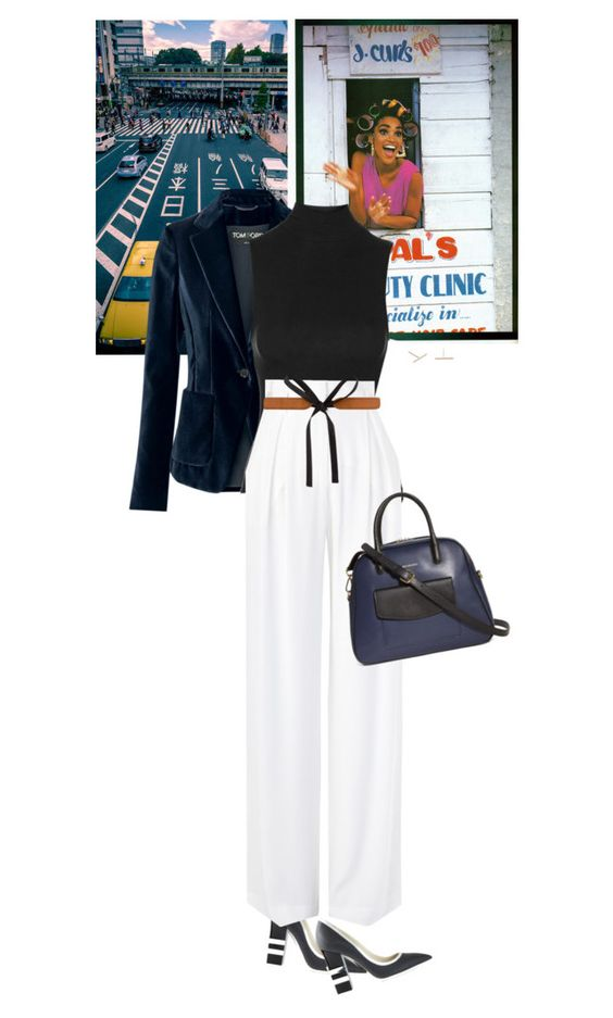 """Untitled #1646"" by wizmurphy ❤ liked on Polyvore featuring Tom Ford, Topshop, Pollini, sass & bide, Vera Bradley, Maison Margiela and J.Crew"