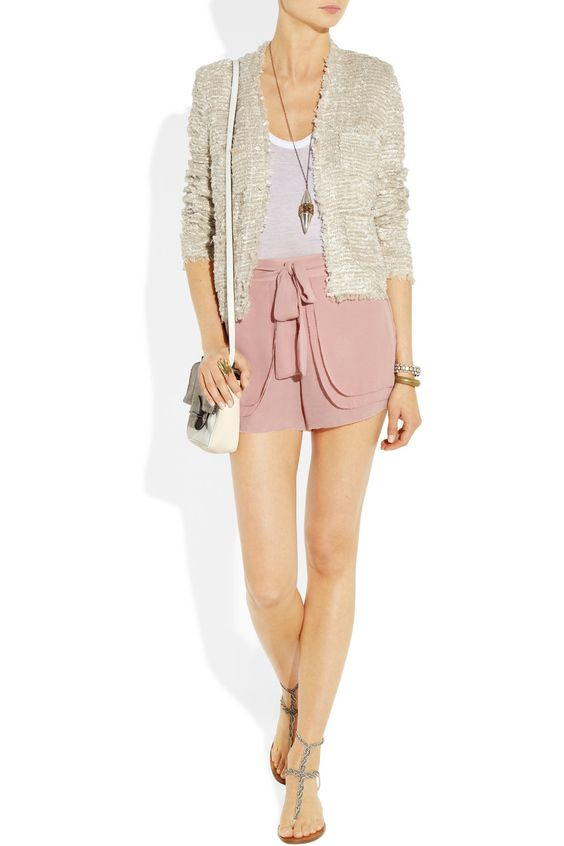ON TREND - Currently channeling The Great Gatsby By Malene Birger Addina belted georgette shorts NET-A-PORTER.COM