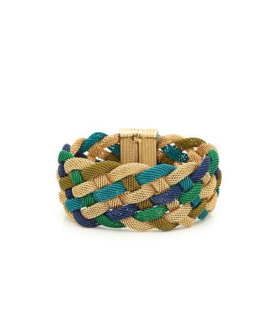 Nightly Boho Braided Bracelet - Teal, Blue, and Gold  $12.50