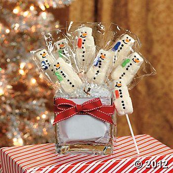 Snowman Marshmallow Suckers | Christmas | Pinterest ...