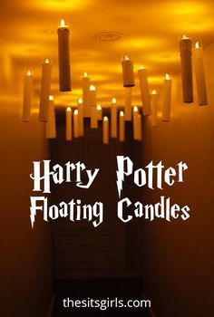 Easy tutorial for making your own Harry Potter floating candles. They are perfect for a Harry Potter party or Halloween decor! It's easy to recreate the magic of the Hogwarts Great Hall in your own home.