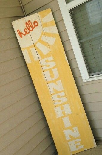Hello sunshine front porch sign, pallet wood