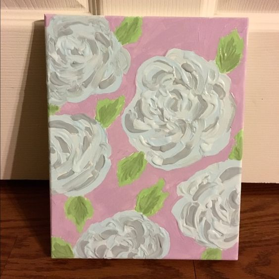 "Lilly Pulitzer Inspired ""First Impression"" Canvas Hand painted First Impression print by me! On an 8x12 canvas that can be hung! Perfect for any Lilly lover❤️❤️❤️ Lilly Pulitzer Accessories"