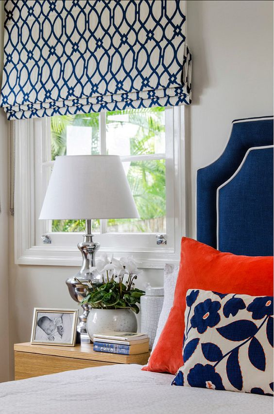 Inspiration! Love these roman shades! Click to learn how to make these roman shades.: