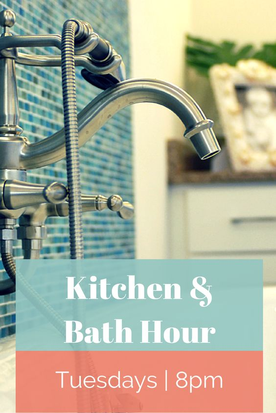 Join us Tonight 8/7c on Pinterest for our next Kitchen and Bath Hour.  Tonight we're talking bath renovations.  http://www.pinterest.com/hgtv/kitchen-bath-hour/