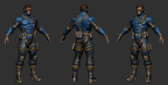 Cyclops x metal gear — polycount