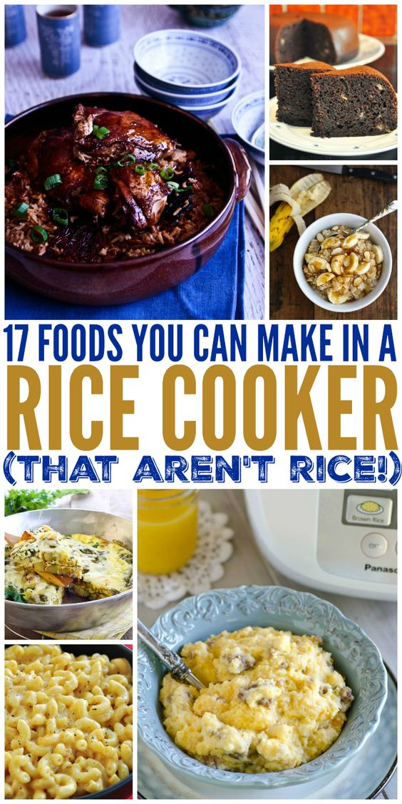 Fun ways to turn my unitasking rice cooker into a multitasking machine! Love, love, LOVE these!