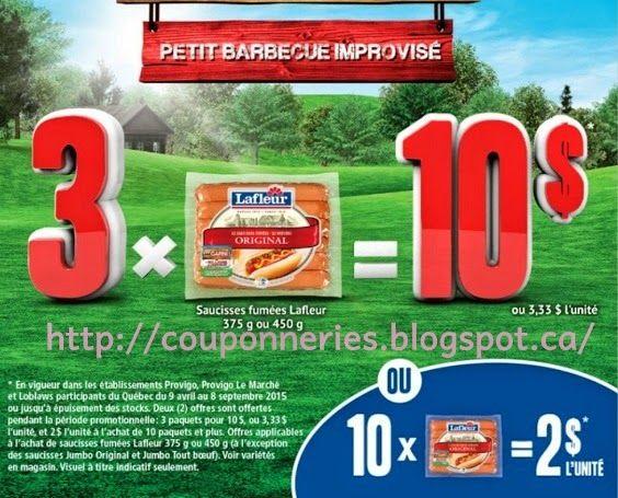 Coupons et Circulaires: 1,00$ Lafleur Saucisses