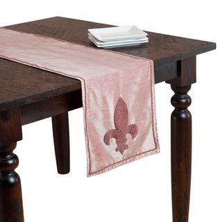 Fleur de Lis Beaded Table Runner | Overstock.com