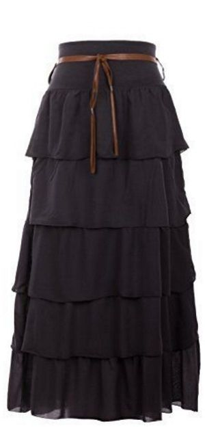 romantic black maxi skirt <3