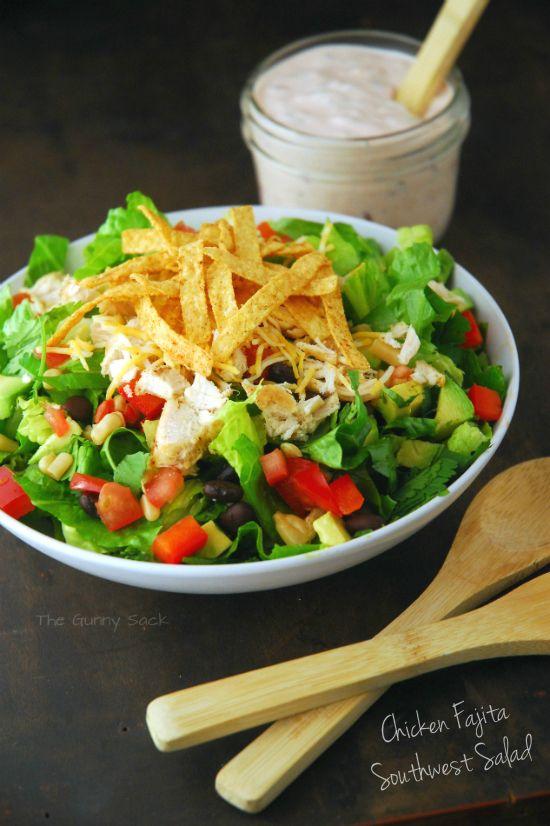 Wendi Hamel via thegunnysack.com Chicken Fajita Southwest Salad Recipe
