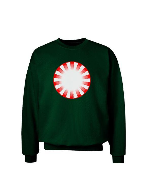 TooLoud Watercolor Peppermint Adult Dark Sweatshirt