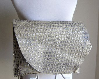 RESERVED LISTING Leather Clutch RUSTIC with Raw von TheFigLeaf
