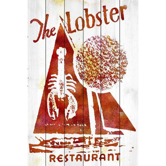 Marmont Hill Art Collective 'Lobster Restaurant' White Art
