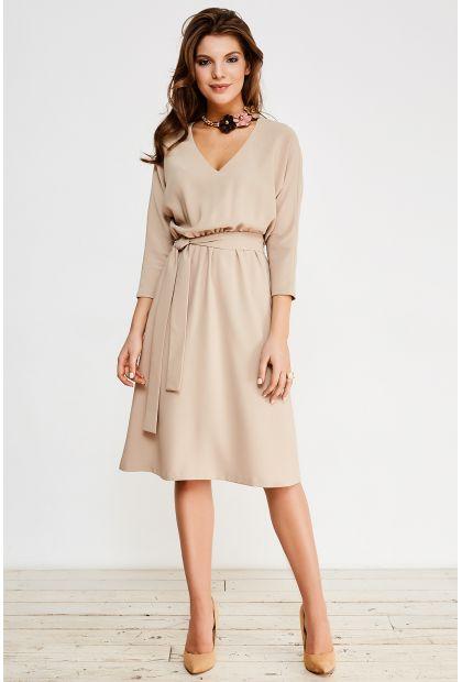 Каталог :: Платье (с поясом) La Vida Rica D71023 Бежевый