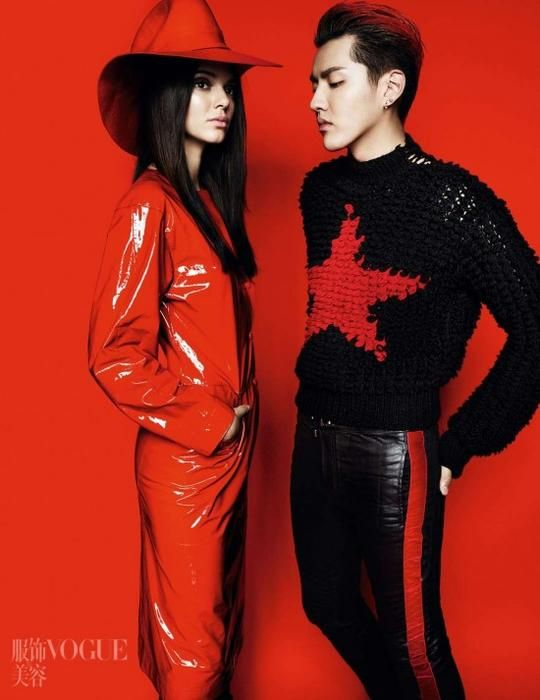 Wu YiFan and Kendall Jenner Vogue China