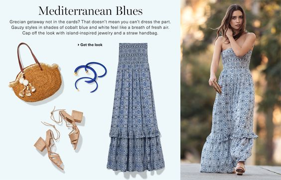 Mediterranean Blues Casual Outfit