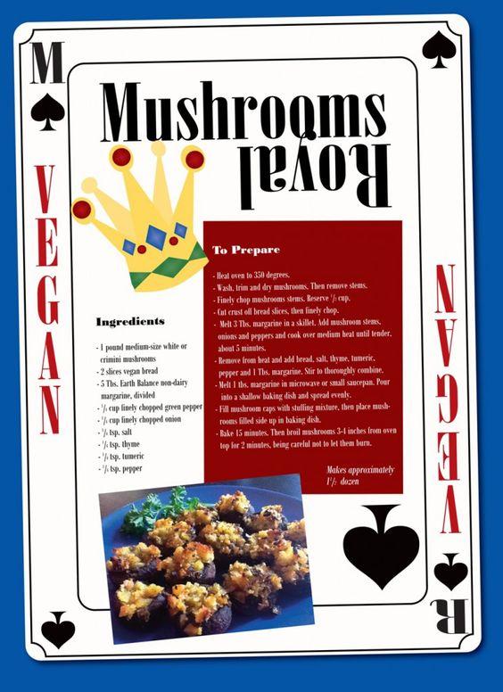 mushrooms royal | Holiday Vegan | Pinterest | Mushrooms, New Years Eve ...