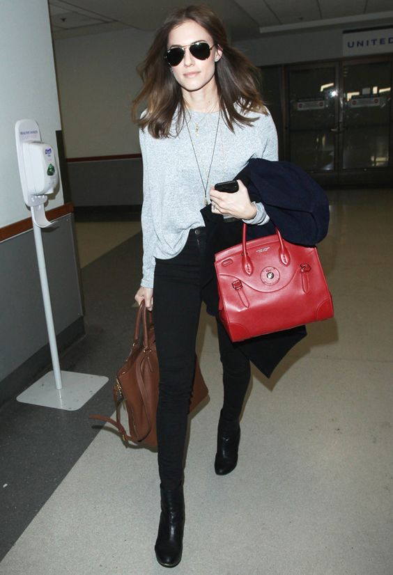 Looking Fly! Allison Williams Nails Casual-Cool Airport Style  #InStyle
