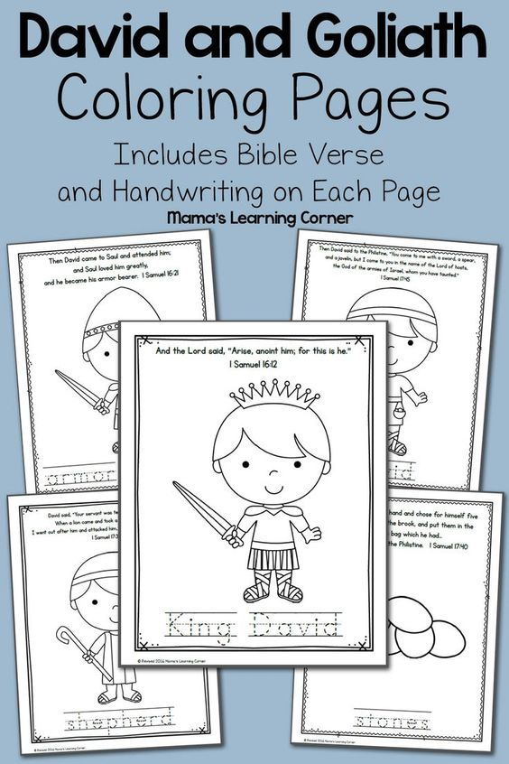 Pinterest the world s catalog of ideas for David and goliath coloring pages for preschoolers