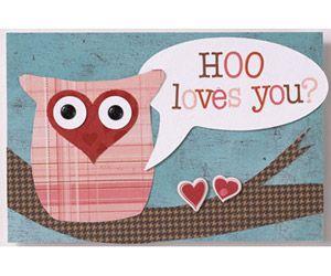 owl valentine craft heart