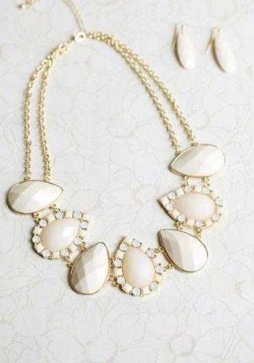 ivory statement necklace