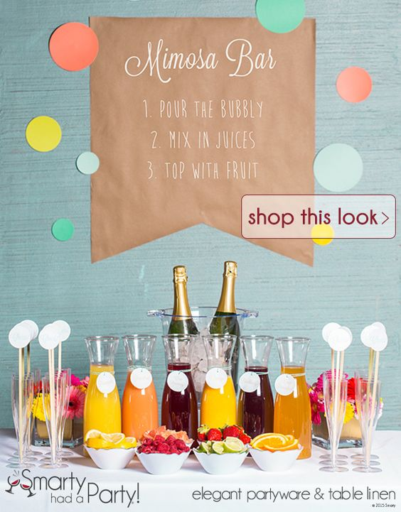 Shop Setting Up A Mimosa Bar DIY Inspiration Idea from SmartyHadAParty.com:
