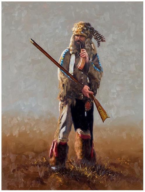 """Scots-Irish in the backcountry:  """"This rapid transformation in appearance quickly set them apart from the wigs and buckles and frilly shirts of New England.  Almost immediately the frontier revitalized the hunter-warrior encoding in their bloodline...In a belt around their waist, they wore...a tomahawk and a scalping knife for hunting & self-defense...Skill with a rifle & knife were essential to survival, & a good marksman had great status in his community.""""  (""""The Other Irish"""" p32, by…"""