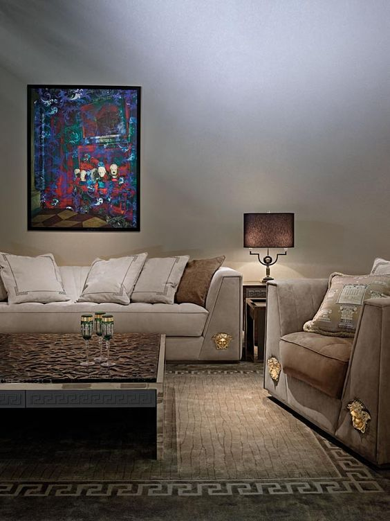 Home living room versace and home on pinterest - Versace living room design ...
