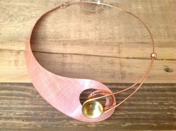 Copper and stainless steel by ColorsOfEtnika on Etsy, $62.00