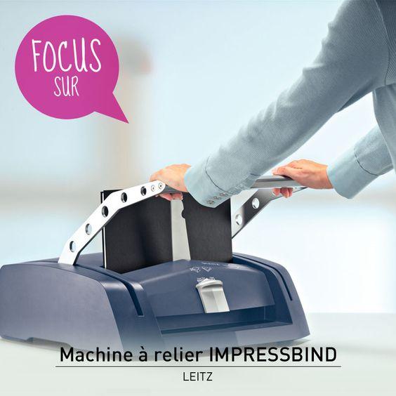 Découvrez un mode de reliure intelligent et responsable - la machine à relier ImpressBind 280