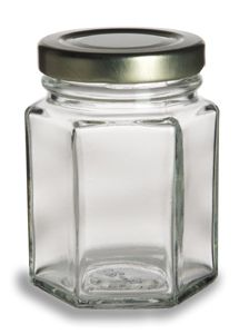 Hex Glass Jar 3.75oz