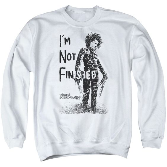 Edward Scissorhands - Not Finished Adult Crewneck Sweatshirt