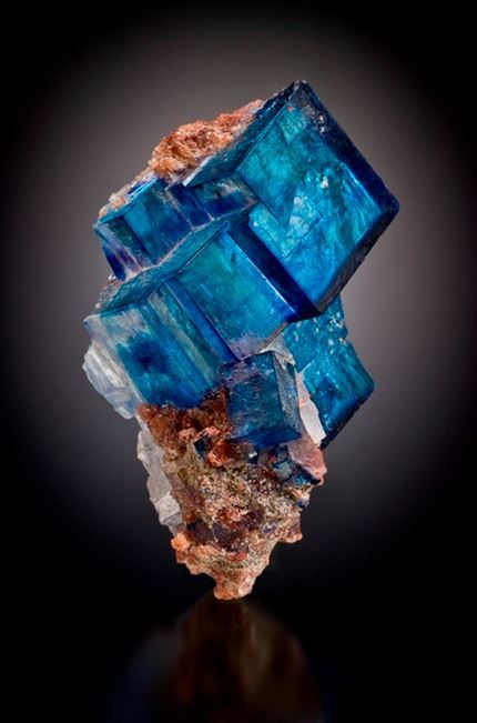 Blue Halite Cluster with Sylvite