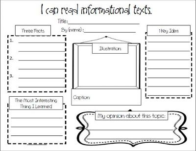 Non Fiction Book Report Graphic Organizer