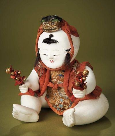 The Carabet Collection of Antique Japanese Dolls: 29 Mechanical Gosho (Karakuri) as Lion Dancer, Early 1800s