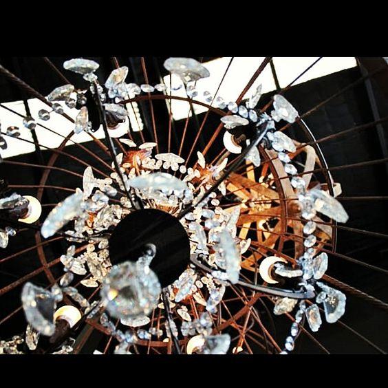 #Light. Industrial meets glam at Canalside Interiors. http://www.canalside.com.au/vintage-birdcage-chandelier-large-90cm/ #Canalsideint #Sydney #Alexandria #7vignettes