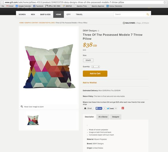 cool multi colored pillow