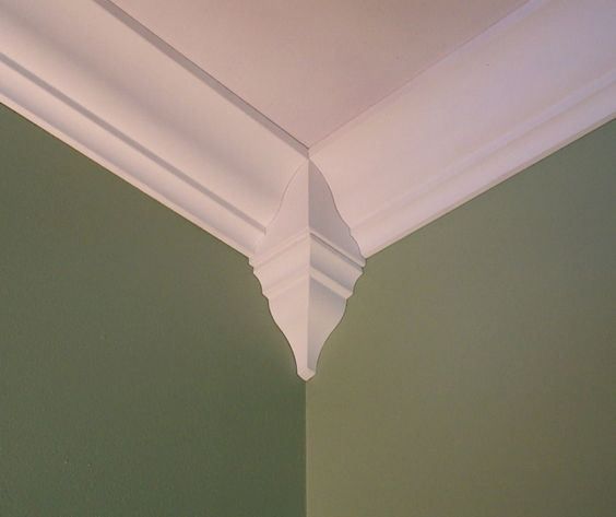 Crown Molding Corner Blocks: You won't believe Crown Molding can be this easy! http://amzn.to/2bNYM9U