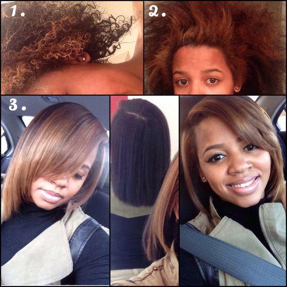 Natural hair #naturalhair #curly #straight