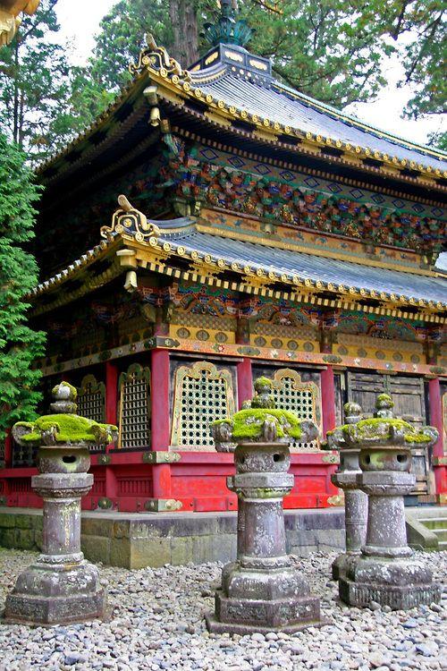 Asia, Japan, Nikko. Toshogu Shrine and mausoleum in the ...