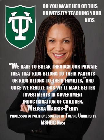 """Stop clinging to the outmoded notion that your children """"belong to you"""" rather than to the Collective. from Melissa Harris Perry, College professor and MSNBC Host"""
